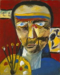 sidney nolan modern art portrait painting